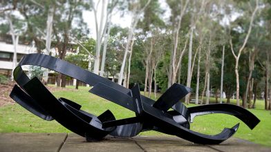 Lenton Parr, Scorpio, 1981, painted steel sculpture