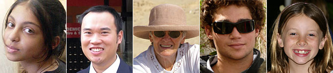 Different faces of Australia people