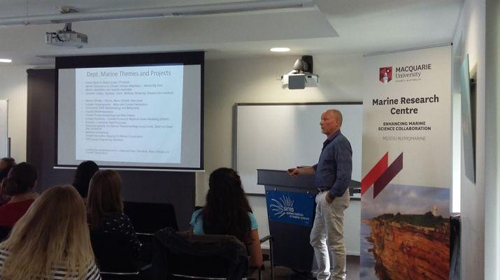 Deputy Director Ian Goodwin presenting