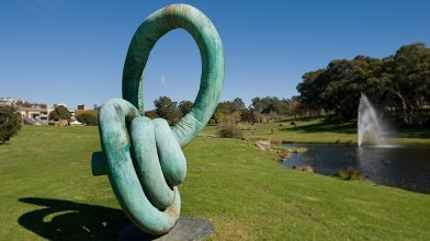 Andrew Rogers, Coil, 2003, silicon bronze sculpture