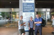 The group outside the conference