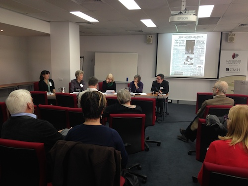 Sandra Hall chairs the panel considering 'The Arts' at the CMH's symposium on 50 years of The Australian.