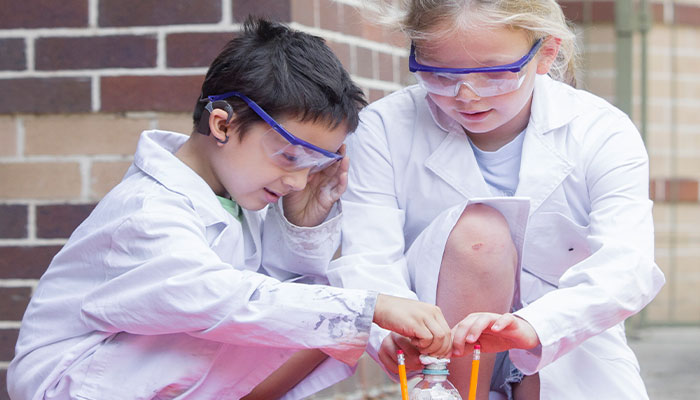 kids at the junior science academy