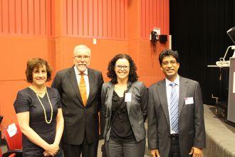 Distinguished Professor Lesley Hughes, Hon Justice Brian J Preston SC, Professor Natalie Klein, Professor Shawkat Alam