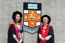 Sandy and Barbara at UNSW for graduation
