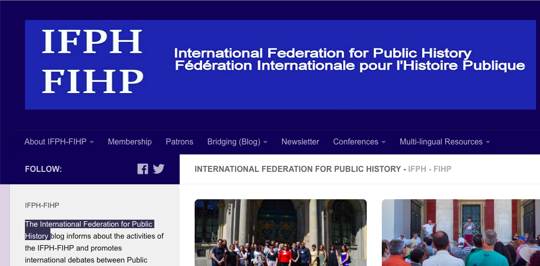 International Federation for Public History launches newsletter