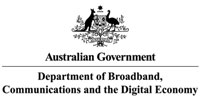 Dept of Broadband comms and digital economy logo