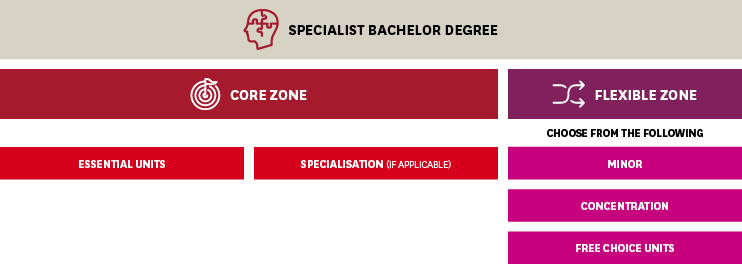 Enrolment Diagram - Specialist Bachelor Degree