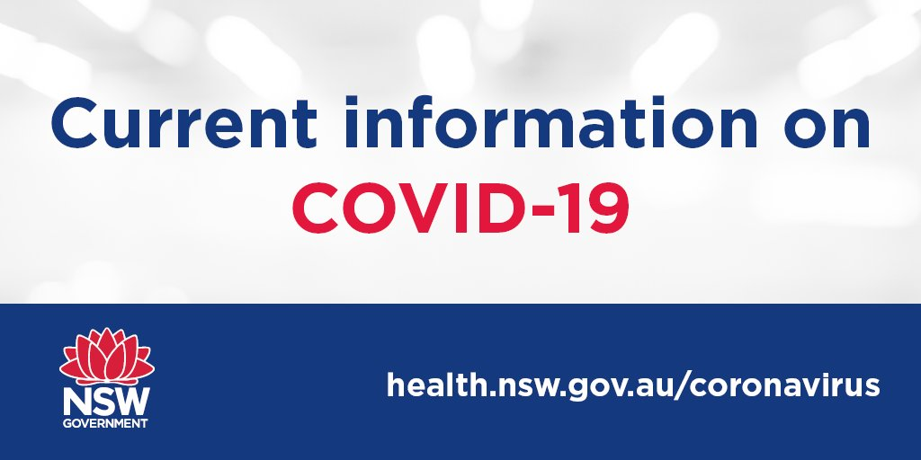 Link to current information on COVID-19 from NSW Health