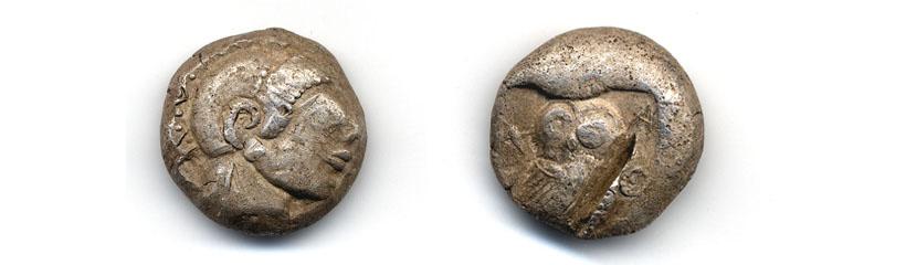 Archaic Athenian tetradrachm 490-480 BC ACANS 00A08
