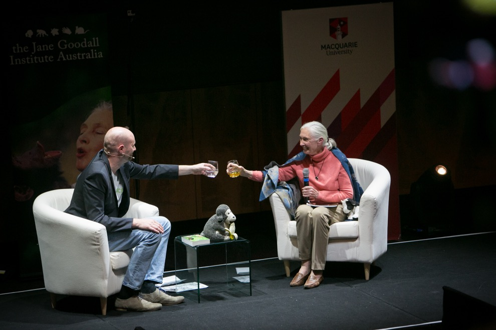 Dr Jane Goodall and Paul Smith