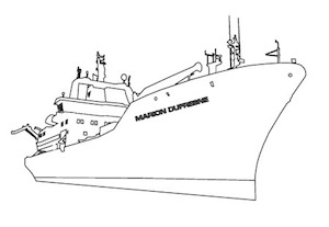 Colouring Sheet of the Research Vessel Marion Dufresne