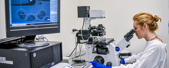 A researcher working with DRC technology