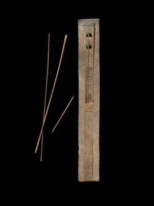 Rectangular wooden scribal palette