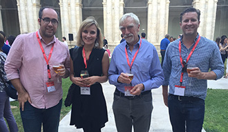 Paul Crosby, Katya Petetskaysa, David Throsby and Jordi McKenzie at 19th ACEI conference Valladolid June 2016