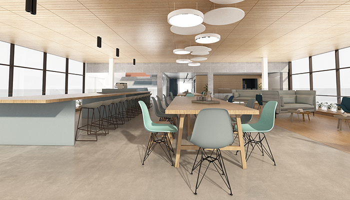 Artists impression of the staff lunch rooms