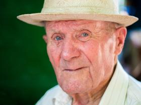 Close up elderly man