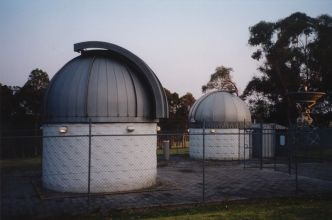 Observatory Domes and Radio Telescope