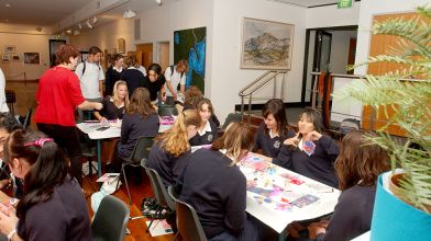 School group interactive workshop with the exhibition Perspectives on Nature