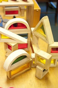 Wooden block shapes