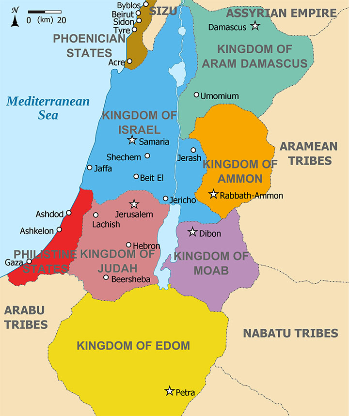 Kingdoms around Israel c.830BCE