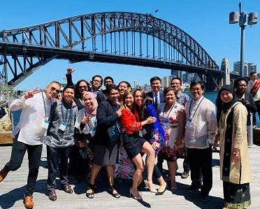 Linguistics graduates celebrate at the Australia Awards Celebration