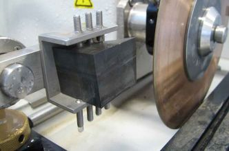 Precision saw: useful for doing slice experiments to establish contaminant and hydrocarbon concentration gradients