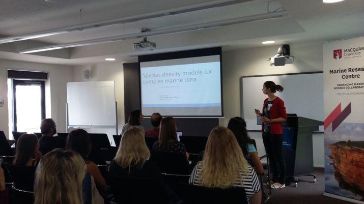 Lisa-Marie Harrison (BIOL) presenting