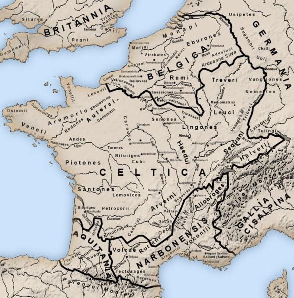 Map of Roman Gaul