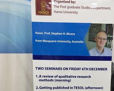 Stephen Moore presents seminars on professional development in Vietnam
