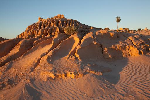 Photograph of Orange Desert at Lake Mungo