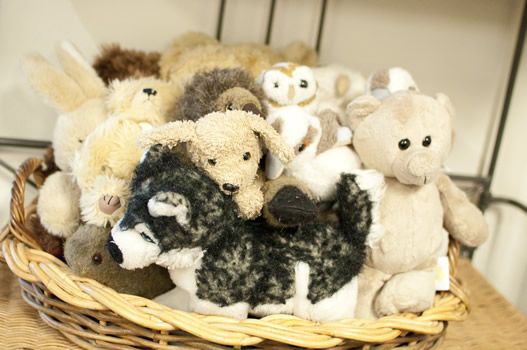 Group of stuffed toy animals