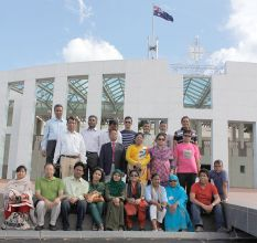 Fellows visiting Parliament House, Canberra
