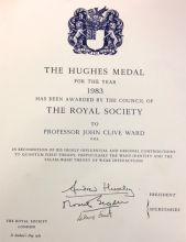 The Hughes Medal certificate
