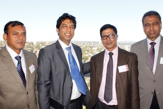 ALA Program Convener Dr. Shawkat Alam and Coordinator Pradip Royhan with two Fellow Delegates