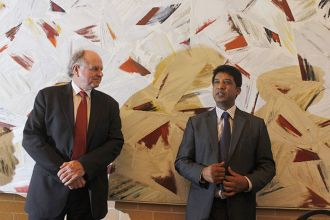 Deputy Vice-Chancellor Professor Jim Piper and Associate Professor Shawkat Alam at the concluding ceremony