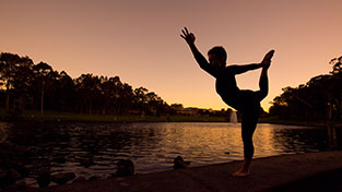 Yoga by the Macquarie University Lake