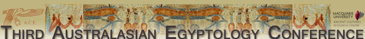 Third Australasian Egyptology Conference Header