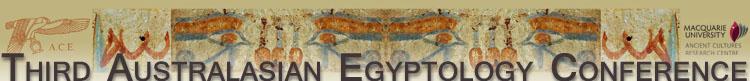 Third Australasian Egyptology Conference Header