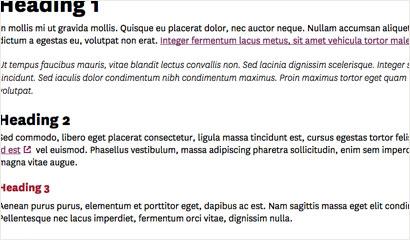 Default content: Typography