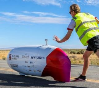 MQ Speed team competing at Battle Mountain, Nevada, World Human Powered Speed Challenge