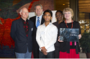 SCARF Inc, Winners of the Jim Samios Memorial Award with Premier of New South Wales, the Honourable Barry O'Farell. L-R: Ted Booth, Barry O'Farrell MP, Pau Lian Naulak, Therese Ngoy, Sharyn McKenzie at the 2012 Building Inclusive Communities Awards Ceremony.