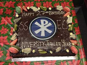 SSEC 27th Birthday Cake