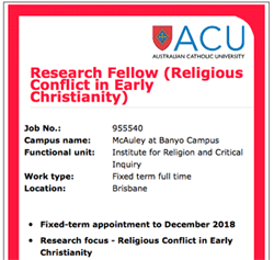 Research Fellowship ACU