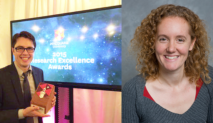 Two of our youngest and brightest take out the Early Career Researcher of the Year Award